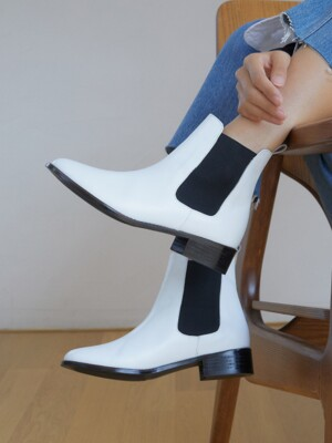 [WOMEN] Chelsea Boot R15W301 (White)