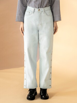 Side Slit Ice Jean Pants