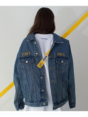 SAFETY BELT DENIM JACKET BLUE