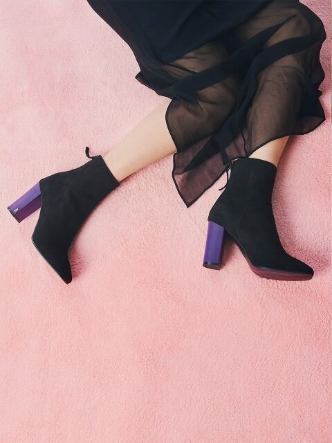 SHOW ME SUEDE ANKLE BOOT PURPLE
