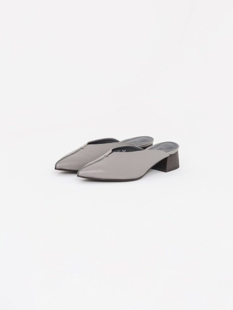 40mm Soft Leather Thread Mule (Grey)