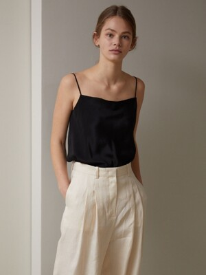 SILK CAMI TOP (BLACK)