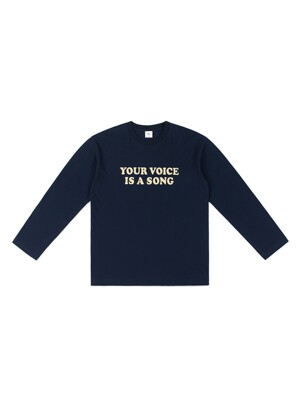 YOUR VOICE LONGSLEEVE TEE (NAVY)