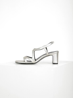 CUT OUT SANDAL - SILVER
