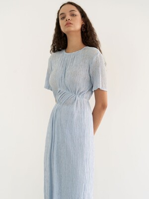 Soft linking dress - blue