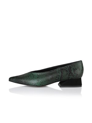 Selma pumps / 19PF-F084 Deep Green Python+Black
