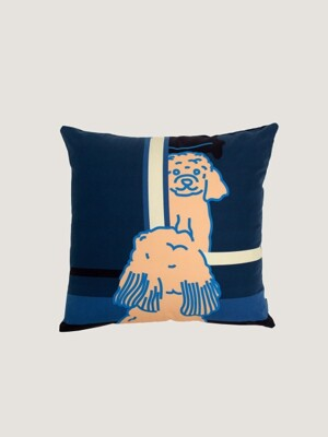 Doggie in the mirror cushion covers- navy