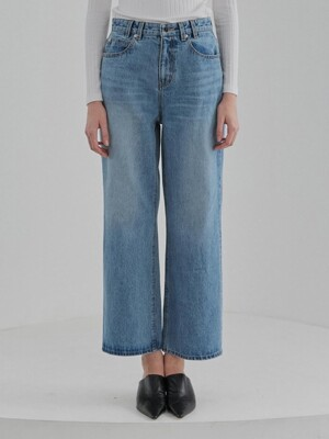 WIDE LEG DENIM WOMENS [BLUE]