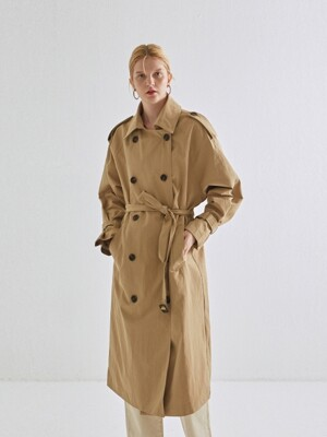 CLASSICAL DOUBLE TRENCH COAT_BEIGE