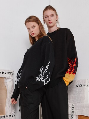 Fire Oversize Knit (WH)