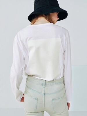 Mild t shirt [Clear white]