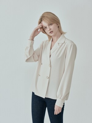 [단독] RETRO BUTTON BLOUSE II CREAM IVORY