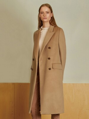 (HEATHER) CASHMERE DOUBLE COAT_CM
