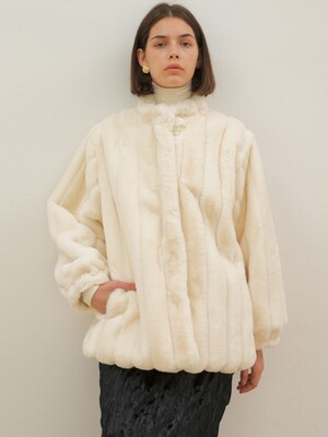Fake Fur Jacket - Light Beige