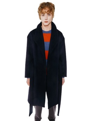 Signature Shawl Coat_French Navy