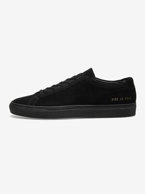 [MEN] 19FW ACHILLES LOW SUEDE BLACK 2152 7547