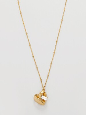 VOLUME HEART NECKLACE_NZ0993