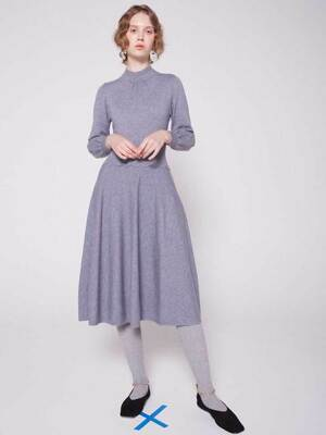 half moon flap knit dress