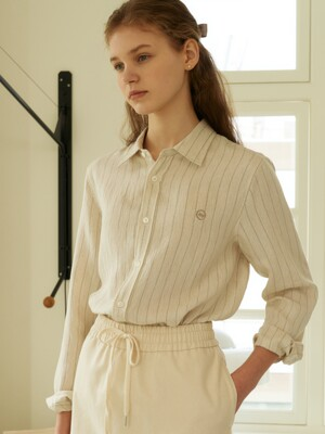 linen shirts (oatmeal stripe)