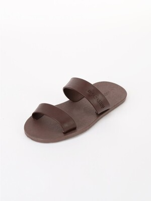 [WOMEN] Two Straps, Brown-Chocolate