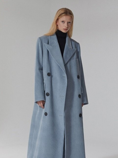 OVERSIZED CORDUROY LONG COAT