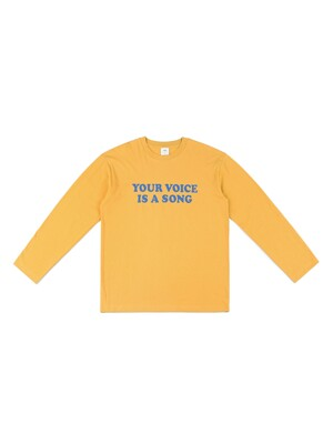 YOUR VOICE LONGSLEEVE TEE (MUSTARD)