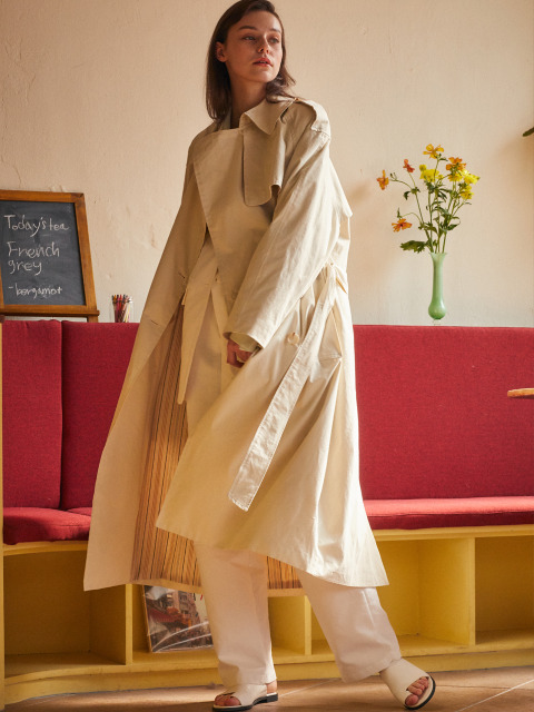 AE OVER TRENCH COAT(IVORY)