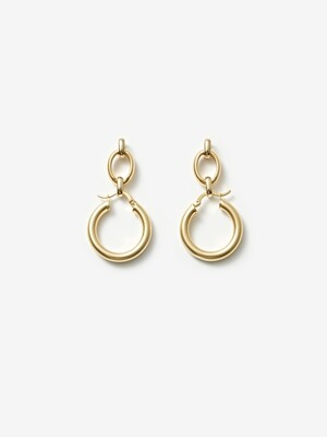 Linked chunky hoop earrings 링크 후프 귀걸이