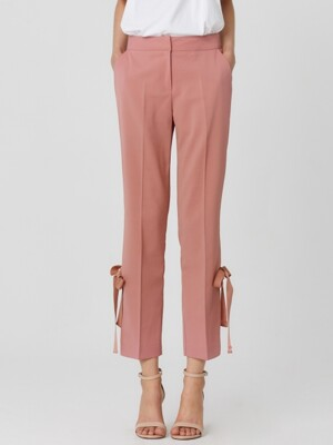RIBBON TIE PANTS_PINK