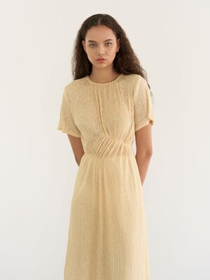 Soft linking dress - yellow