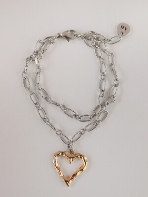 True love double chain bracelet (2color)