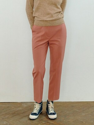MAUVE PINK NEW BASIC SLIM PANTS