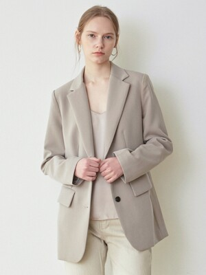 PURE TAILOR SINGLE JACKET_SAND