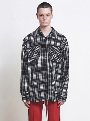 05 Oversized Check Shirt - Black