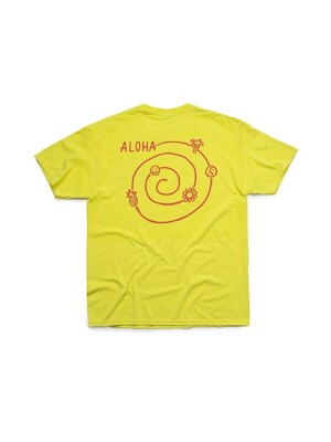 ALOHA CIRCLE TEE (NEON YELLOW)