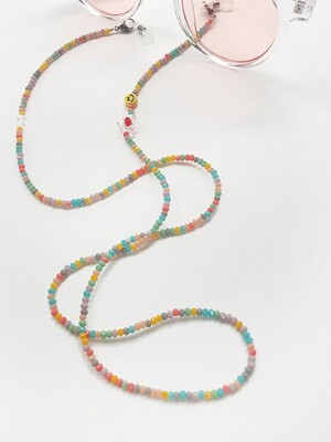 Mask & Sunglasses & Necklace Beads String(1=3)