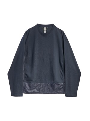CONTRAST PANEL LONG SLEEVES / NAVY