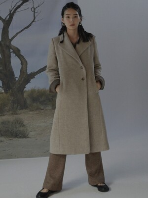 signature long coat _ new oatmeal