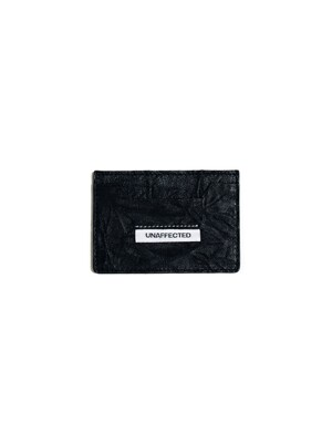 LOGO LABEL CARD HOLDER / BLACK