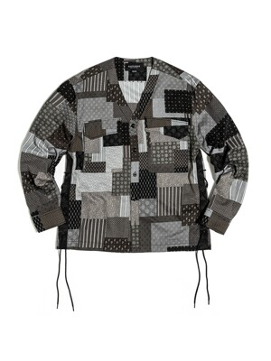 FLAK SHIRT JACKET / BLACK MULTI PAISLEY