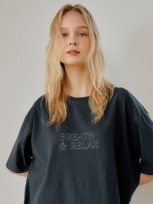 CHARCOAL BREATH&RELAX OVERSIZE TSHIRT