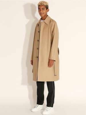 Side Slit Over fit Mac Coat_Beige