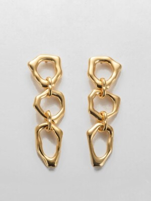 Rough line ``drop`` earring