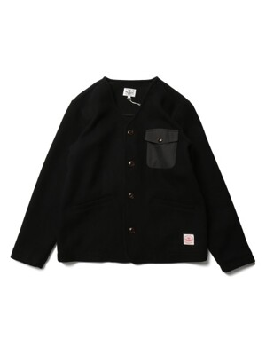Marion Pocket Wool Cardigan Jacket Black