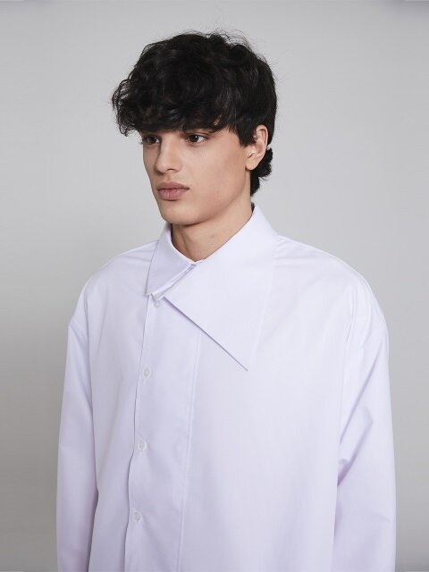 unbalance shirt(white)