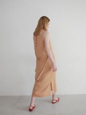 19' SPRING_Salmon Simple Slip Dress