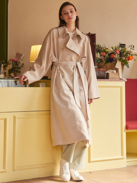 AE OVER TRENCH COAT(GRAY)