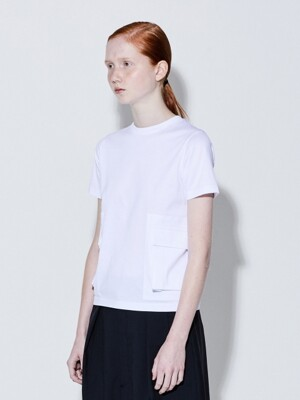 19SS OUT POCKET T-SHIRTS (WHITE)