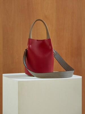 J232 Muse mini two-tone bag (grey/red)