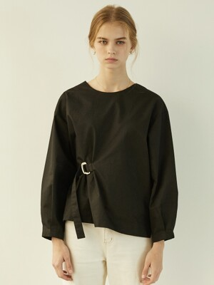 P Belted Blouse_BK